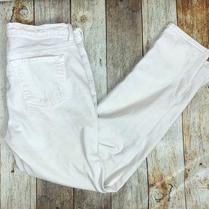J Brand White Jeans Skinny Leg Aspen Mid Rise